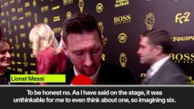 Messi 'very happy' with Ballon d'Or achievements after record sixth win