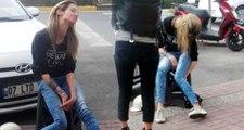 Ayakta durmakta güçlük çeken Hollandalı turisti, erkek arkadaşı yol kenarında bırakıp kaçtı