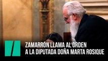 Zamarrón llama al orden a la diputada doña Marta Rosique