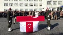 Şırnak'ta şehit olan Piyade Sözleşmeli Er Alparslan Kurt'un cenaze töreni