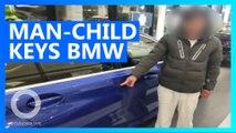 Spoilt man-child keys BMW so daddy has to buy it