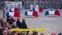"""Emmanuel Macron a rendu hommage au """"sacrifice"""" des soldats morts au Mali"""