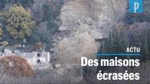 Un rocher de 3 000 m3 s'est écrasé sur un village