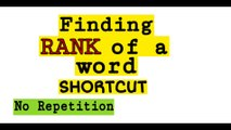 Find Rank of a word in the dictionary | Shortcut | NDA | JEE | NA | CETs | Math Tricks | Part 1