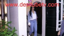 Katrina Kaif spotted in denims and white shirt outside a studio. Look beautiful and cute as ever