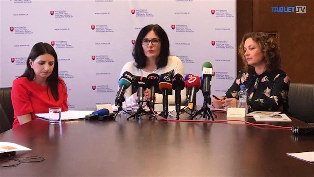 ZÁZNAM: TK ministerky školstva, vedy, výskumu a športu SR Martiny Lubyovej