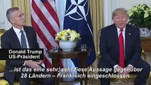 "Trump: Macrons Nato-""Hirntod""-Äußerung ""sehr, sehr fies"""