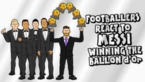 LOLs | Footballers react to Lionel Messi winning the Ballon d'Or