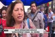 Metropolitano - Súper Expreso: tiempo de viaje se redujo a menos de 45 minutos