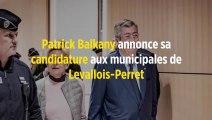 Patrick Balkany annonce sa candidature aux municipales de Levallois-Perret