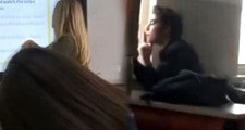 Sınıfta bir öğrencinin sigara içtiği görüntülerle ilgili inceleme başlatıldı