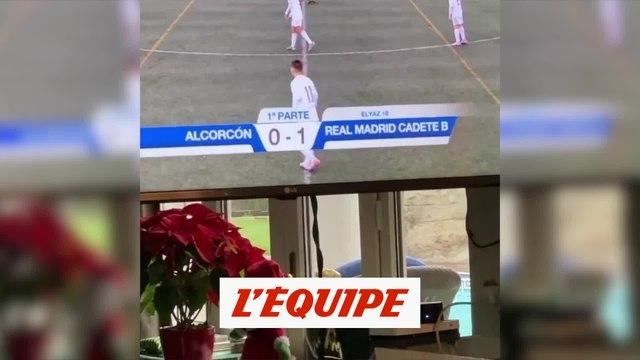Le superbe but d'Elyaz qui enflamme son Zidane de père - Foot - WTF
