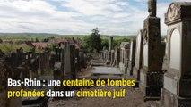 Bas-Rhin: une centaine de tombes profanées dans un cimetière juif