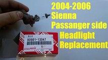 2004-2006 Sienna Passanger side Headlight Replacement
