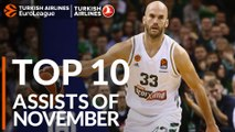 Turkish Airlines EuroLeague, Top 10 Assists of November!