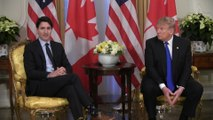 Canada 'slightly delinquent' on defence spending, Trump says during meeting with Trudeau