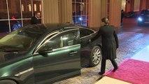 Nato leaders arrive at Buckingham Palace