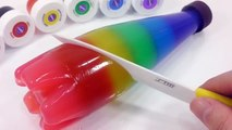 Jelly Soft Pudding Bottle DIY Learn Colors Slime Surprise Eggs Colors Toys For Kids And Babies
