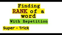 Find Rank of a word in the dictionary | JEE | NDA | CETs | NA | Math Tricks | Part 2
