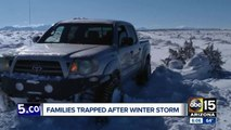 Arizona families trapped after winter storm