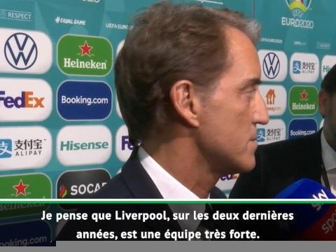Premier League - Pour Mancini, Liverpool est encore loin d'avoir remporté le titre