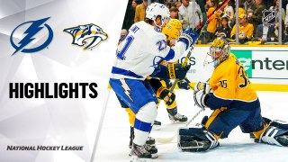 NHL Highlights | Lightning @ Predators 12/03/19