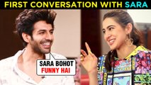 Kartik Aaryan REVEALS His First Conversation With Girlfriend Sara Ali Khan | Love Aaj Kal 2
