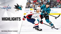 NHL Highlights | Capitals @ Sharks 12/03/19
