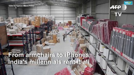 From armchairs to iPhones, India's millennials rent it all