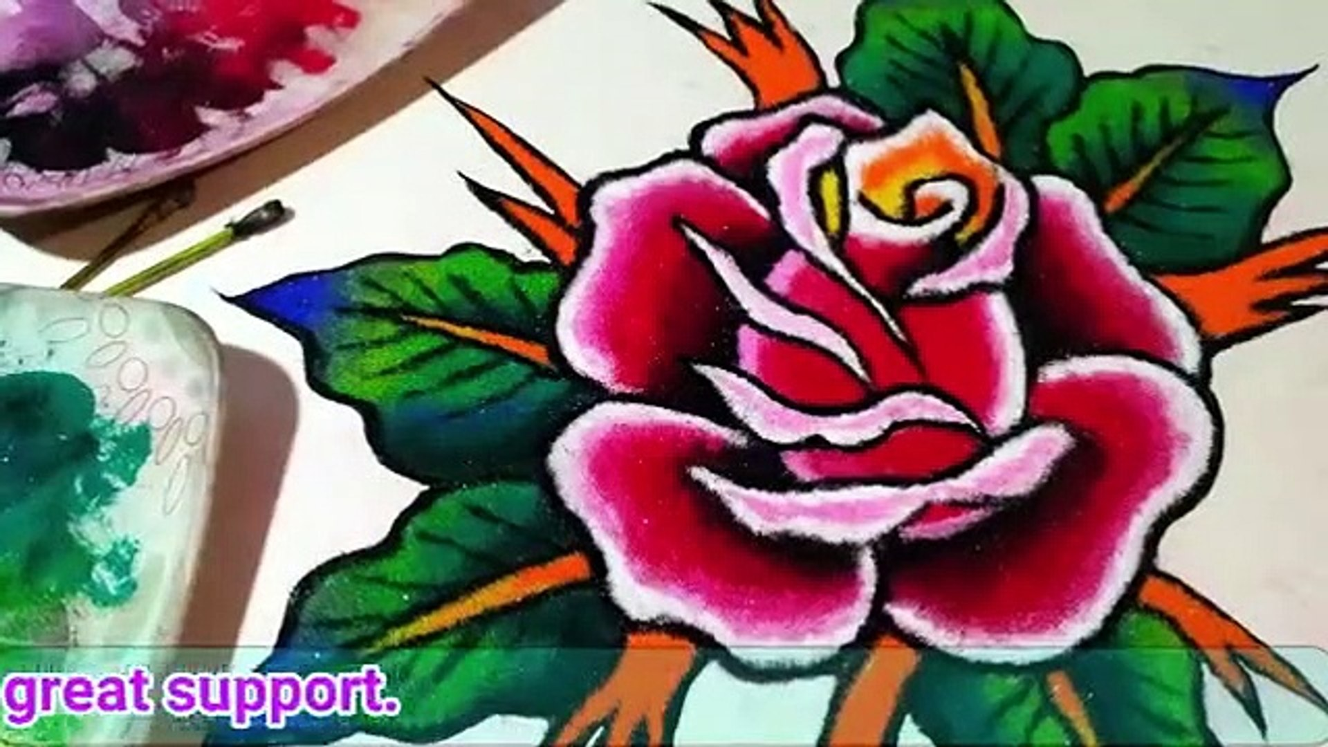 20 Attractive Flower Rangoli Collection Video Dailymotion
