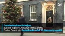 Cumhurbaşkanı Erdoğan, Türkiye-İngiltere-Almanya-Fransa Dörtlü Suriye Zirvesi için Başbakanlık ofisi '10 Numara'ya geldi
