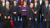 Nato leaders gather for family photo