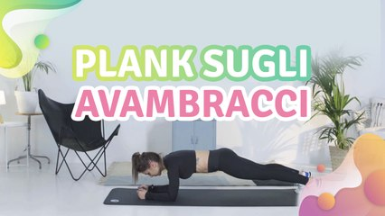 Plank sugli avambracci -  Vivere più Sani