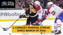 Ford Final Five Facts: Bruins Continue Their Hot Streak