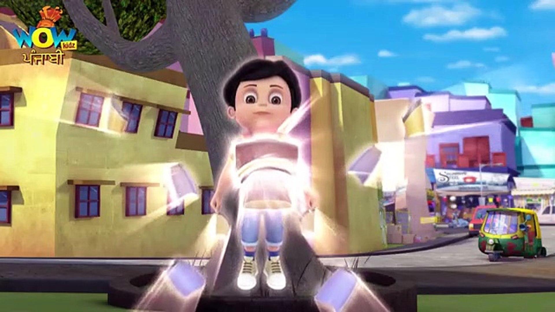 Vir The Robot Boy  Punjabi Cartoon  Punjabi Story Invisible Power Attack