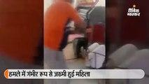 युवक ने महिला दुकानदार पर किया जानलेवा हमला