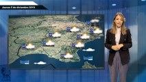 El pronóstico del tiempo para el jueves 5 de diciembre.