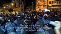 Echauffourées entre manifestants et forces de l'ordre lors d'une manifestation nocturne à Beyrouth