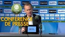 Conférence de presse AJ Auxerre - Valenciennes FC (1-1) : Jean-Marc FURLAN (AJA) - Olivier GUEGAN (VAFC) - 2019/2020
