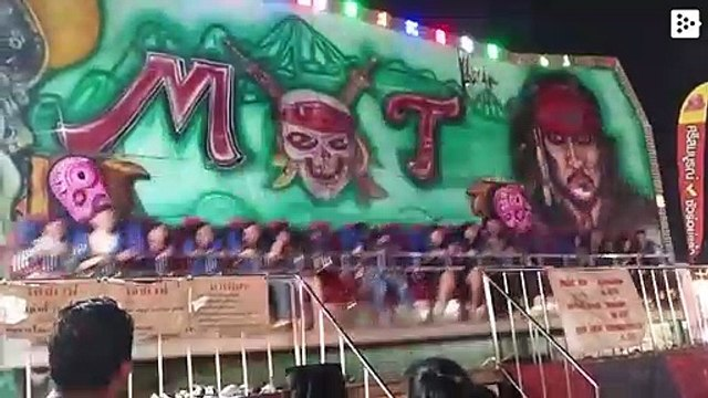 Five children fly out of an attraction in Thailand