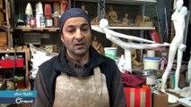 سوري يترك بصمته على  منحوتات ضخمة في أنحاء فرنسا - حقيبة سفر