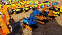 Learn Colors With Cars Toys Video for Children Excavator Dump Truck Toys for Kids