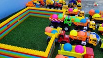 Learn Colors With Balls Toys for Children Dump Trucks Cars Toys for Kids