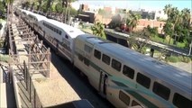 Railfanning Poinsettia Station- BNSF daygo autoracker & Amtrak action at Poinsettia