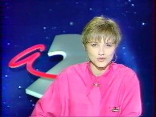 Antenne 2 - 11 Juin 1990 - Jingle pub, teaser, speakerine (Valérie Maurice)