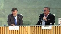 """Rajoy avisa a Sánchez que será un """"irresponsable"""" si rompe grandes consensos"""
