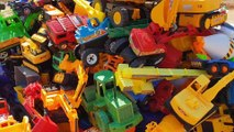 Cars Toys for Kids To Learn Names With Real Video Excavator Dump Truck Road Roller Police Car