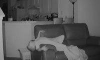 Escuchaba ruidos de madrugada, puso una cámara y esto es lo que descubrió