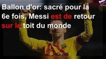Lionel Messi est de retour sur le toit du monde