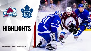 Toronto Maple Leafs vs. Colorado Avalanche - Game Highlights